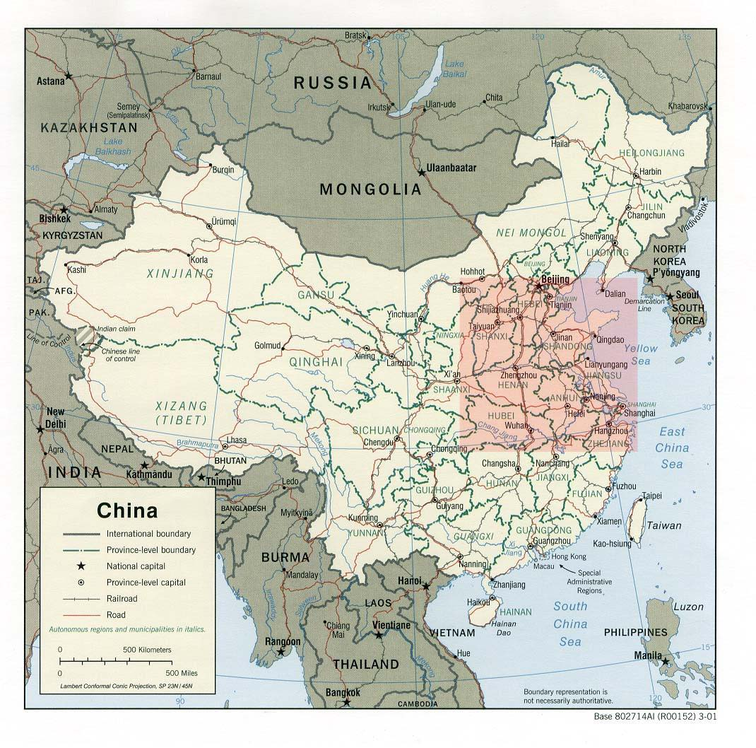 north china plain on map China Map north china plain on map