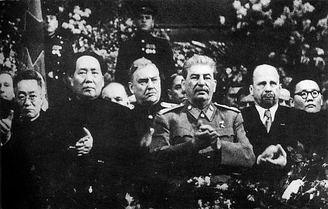 Mao, Bulganin, Stalin, Ulbricht, and Tsedenbal.
