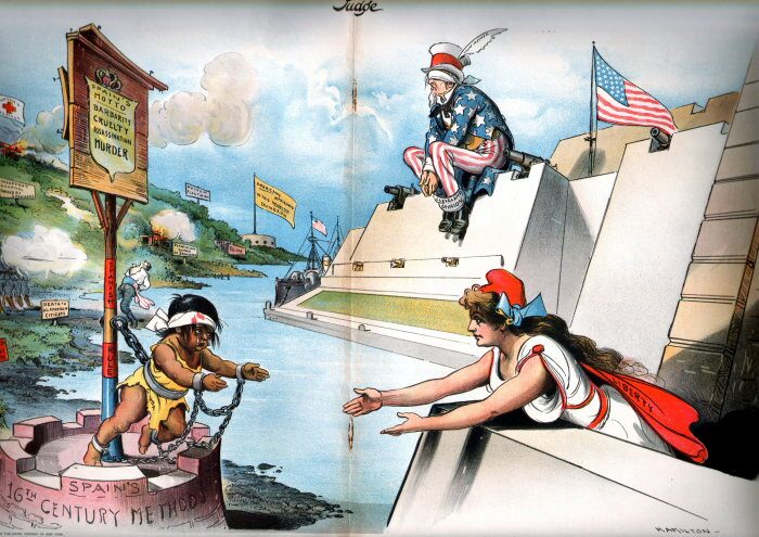 Spanish American War Political Cartoons In Color The spanish-american ...