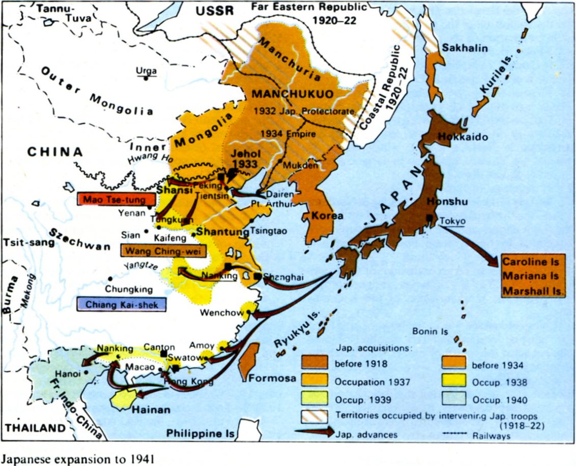 The WarRavaged Years - Japan map 1920