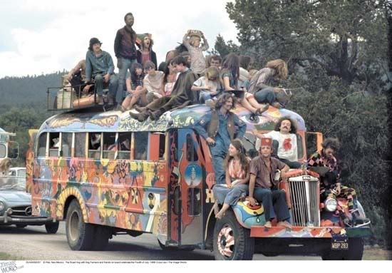 A busload of hippies.