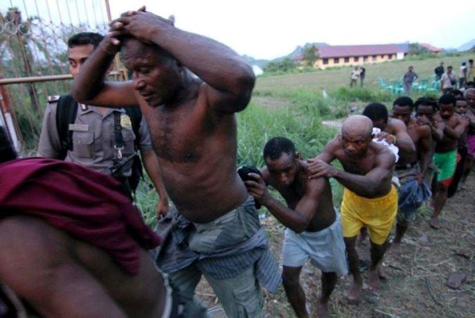 Arrests at Jayapura, 2011.