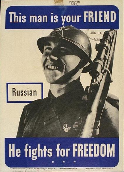 Poster of a Russian Soldier.