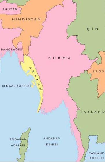 map showing Arakan