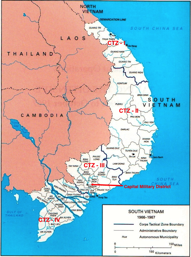 South Vietnam's Corps Tactical Zones.