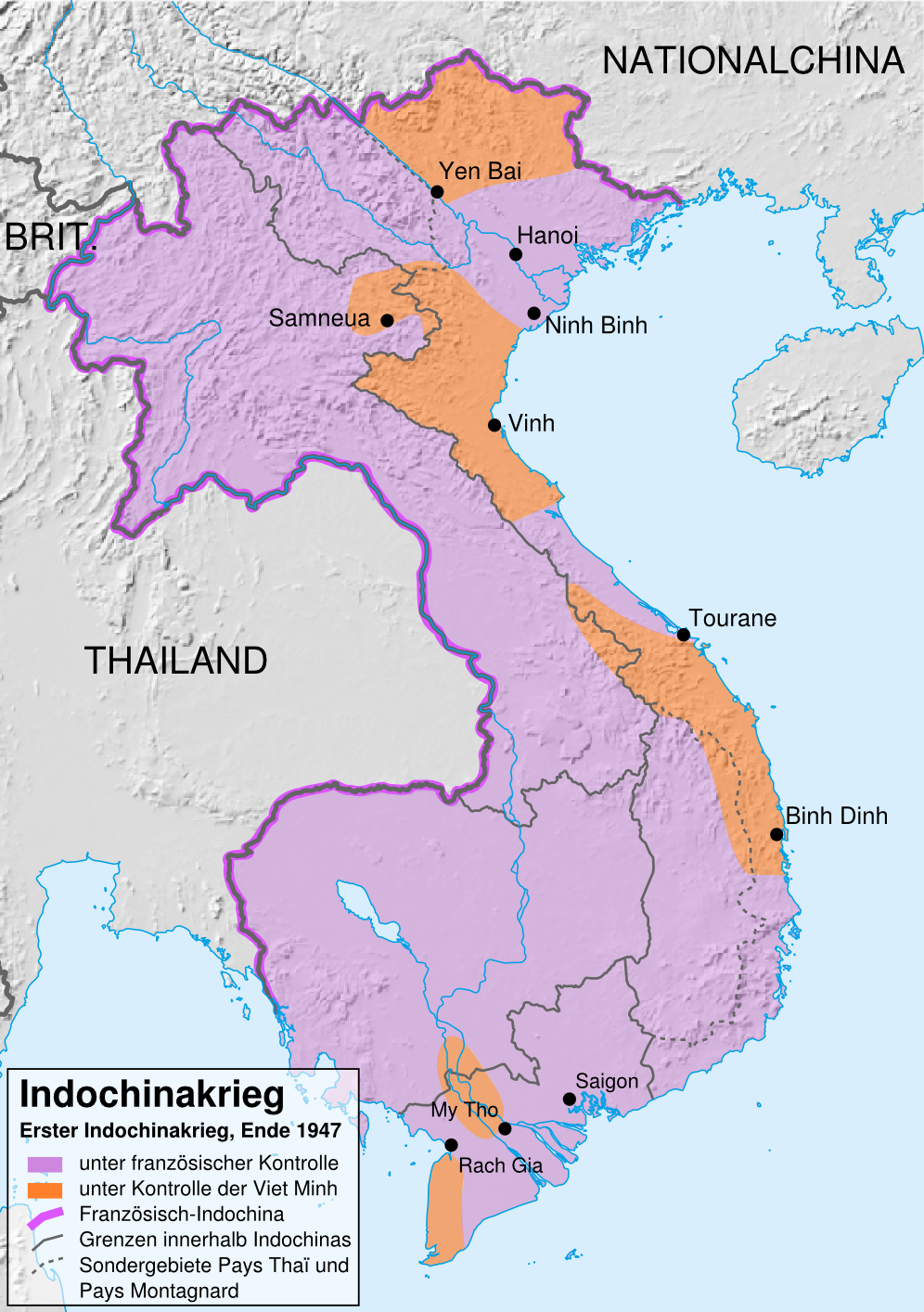Indochina in 1947.
