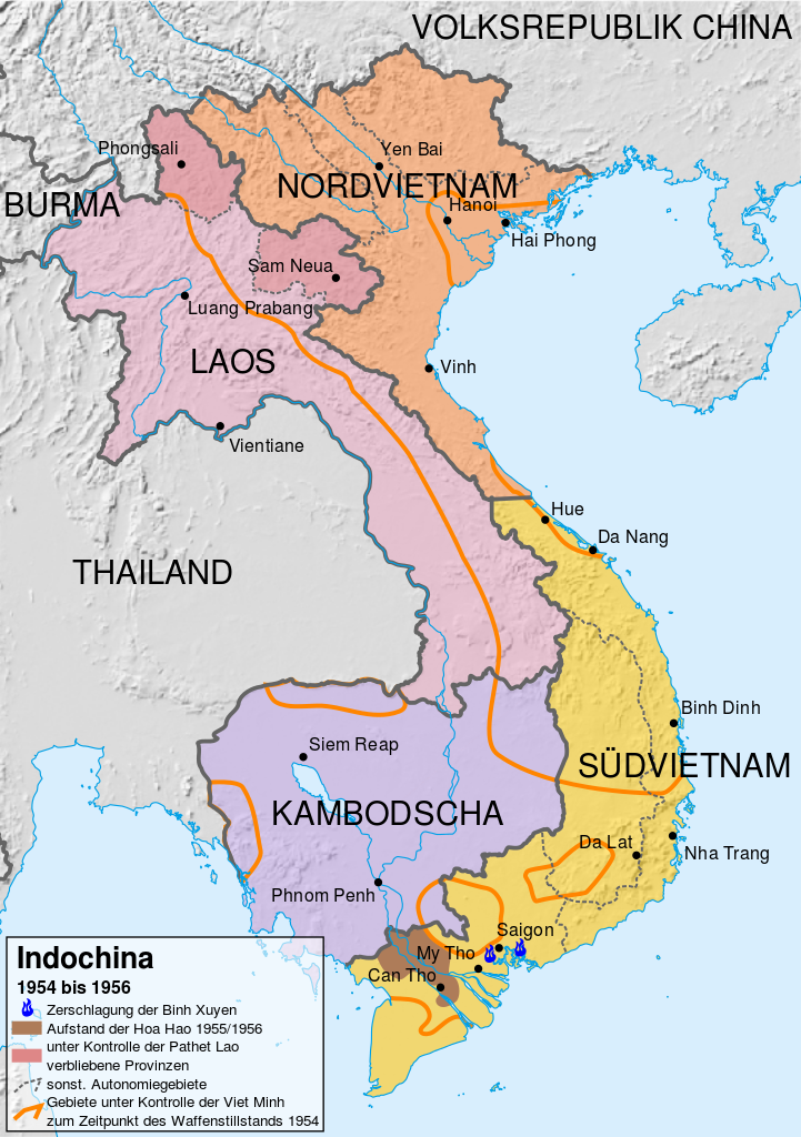 Indochina in 1954.