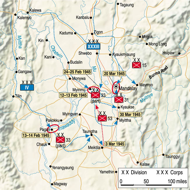 Battle of Mandalay & Meiktila.