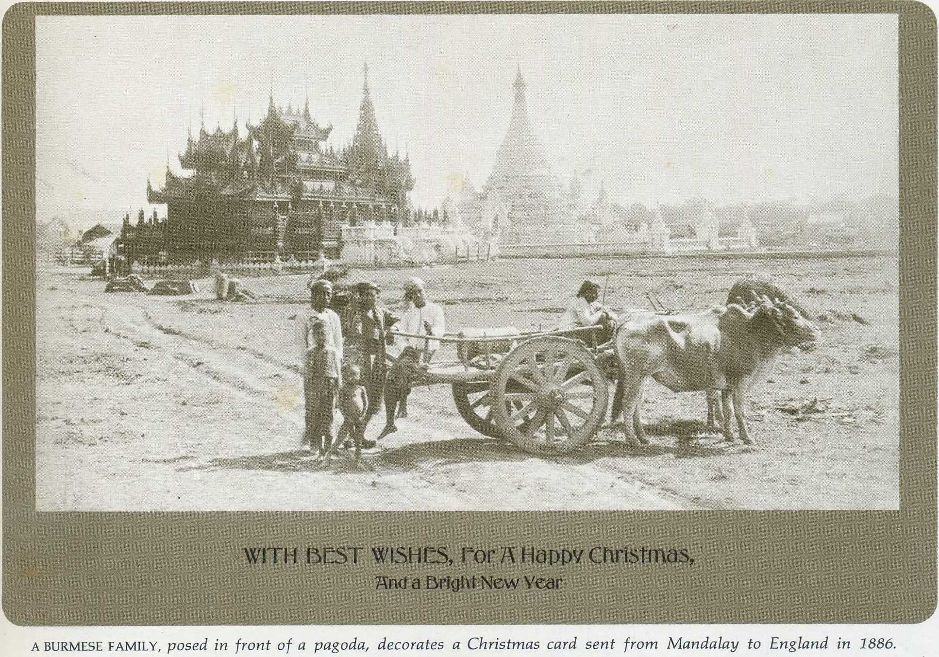 Mandalay Christmas card