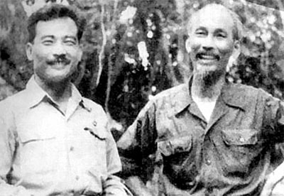 Souphanouvong with Ho Chi Minh.