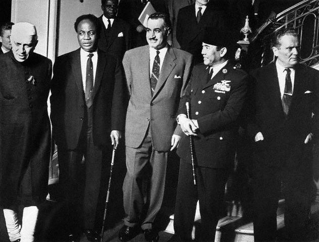 Nehru, Nkrumah, Nasser, Sukarno and Tito.