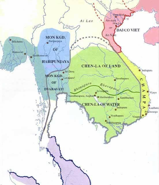 Indochina, 8th-century map